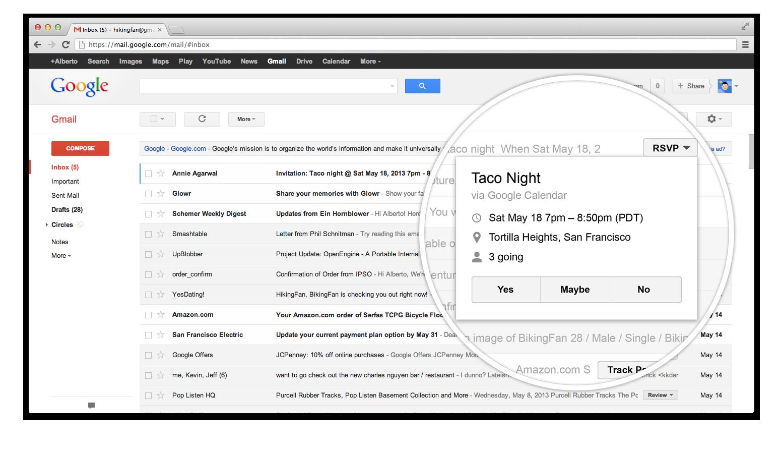 Gmail RSVP