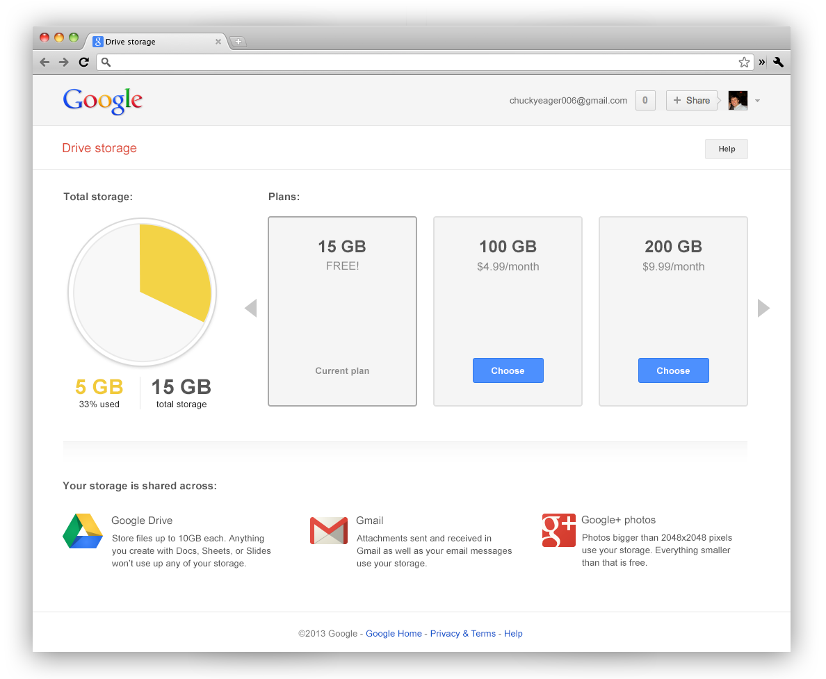 Google Stockage