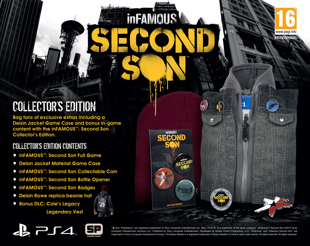 infamous second son collector edition