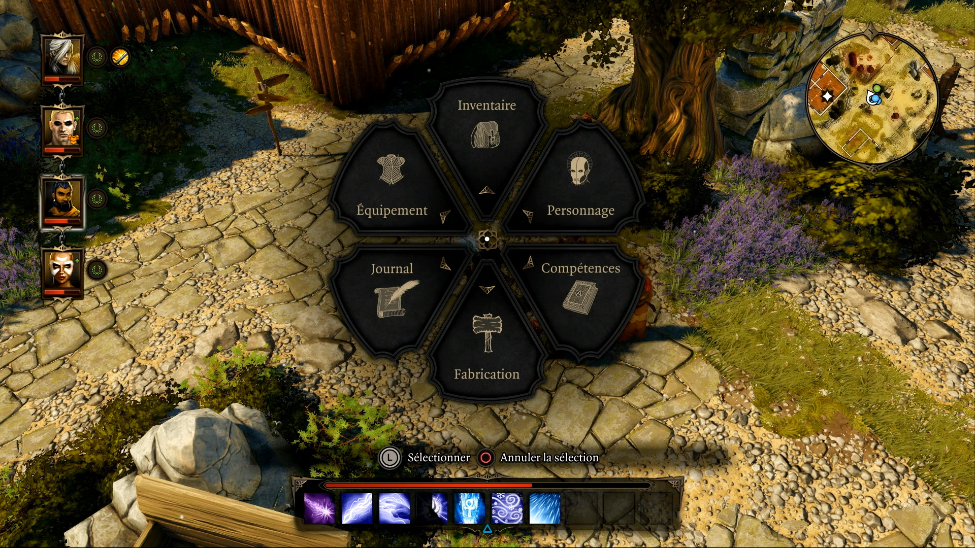 Voici la roue proposée pour atteindre facilement les différentes options du jeu sur Playstation 4.