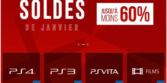 Soldes de janvier PlayStation Store