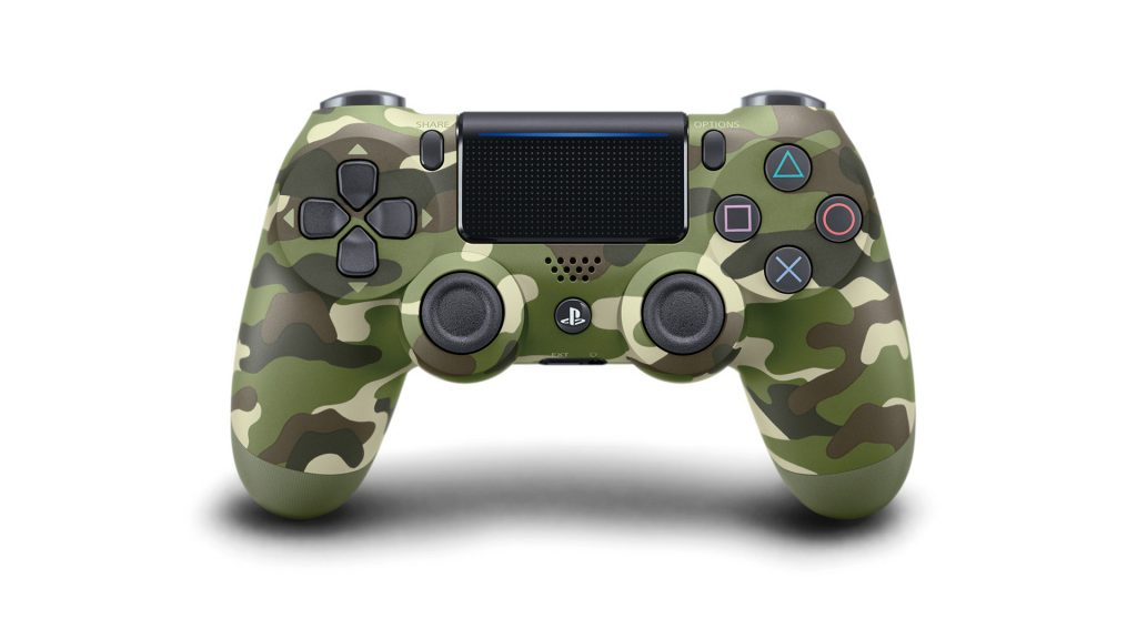 PS4 DualShock 4 Green Camouflage