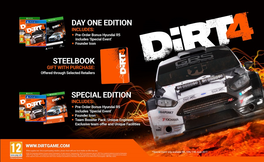 Dirt 4 Steelbook Edition