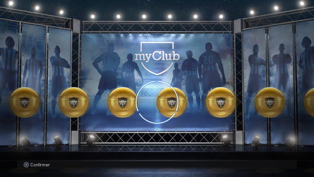 PES 2018 MyClub