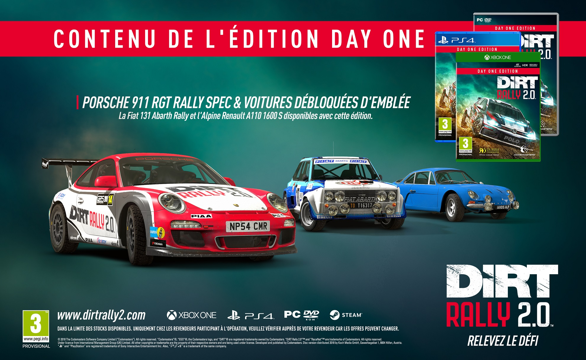 dirt rally 2 0 contenu des diff rentes ditions geektest. Black Bedroom Furniture Sets. Home Design Ideas