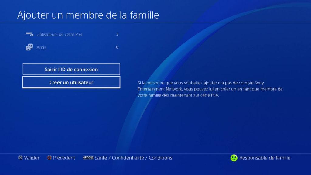 Contrôle Parental PS4