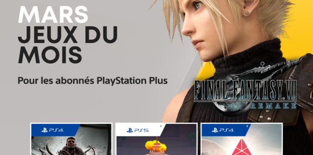 PlayStation Plus mars 2021