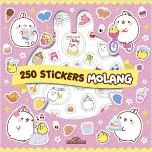 Molang - 250 autocollants Kawaï