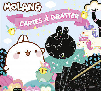 Molang - Cartes à gratter licornes