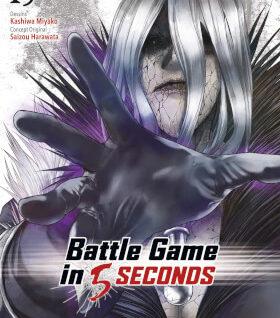 BATTLE GAME IN 5 SECONDS T15Saizou, traduit par Pascale Simon et dessiné par Miyako Kashiwa, s'avèrera au cours de Battle Game In 5 Seconds T15