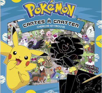 Cartes à gratter Pokémon cherche-et-trouve à Galar